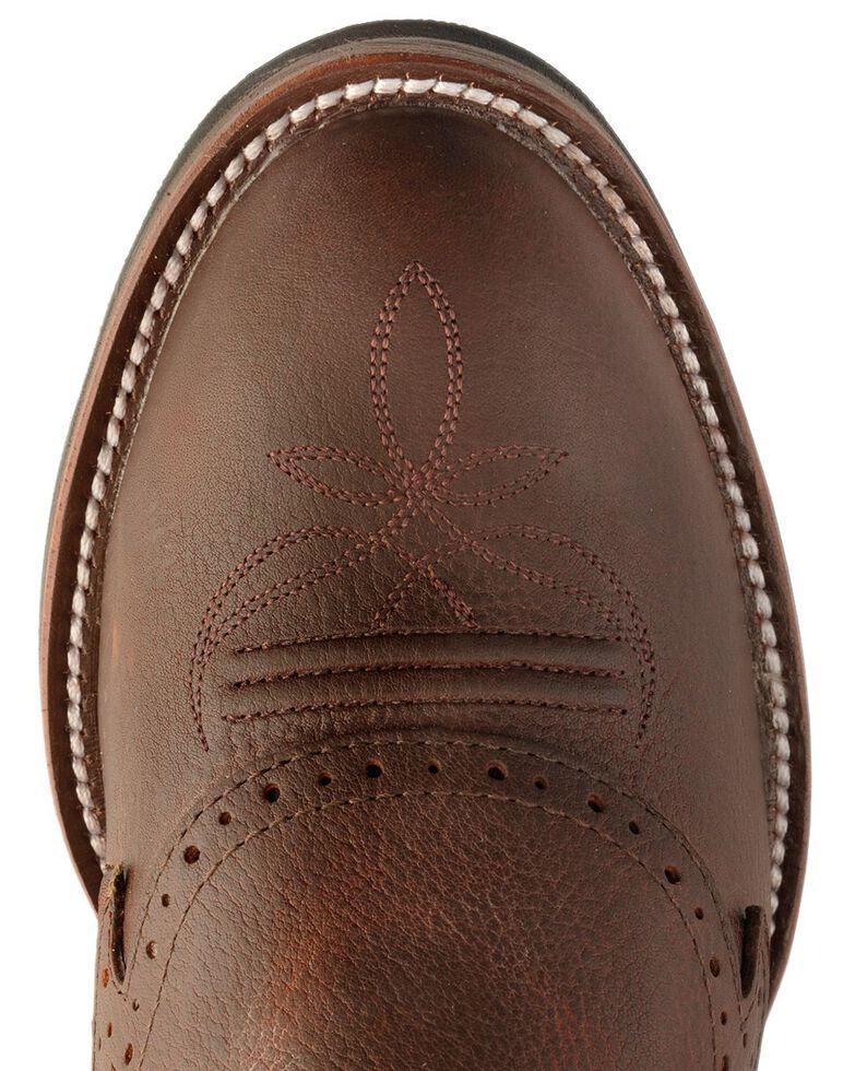 Tony Lama 3R Fancy Buckaroo Cowboy Boots - Round Toe, Sienna, hi-res