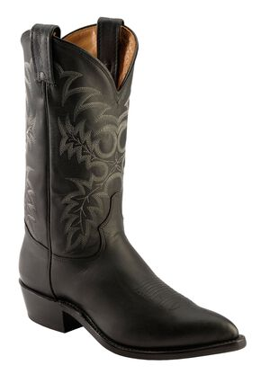 Tony Lama Americana Stallion Western Boots - Pointed Toe, Black, hi-res