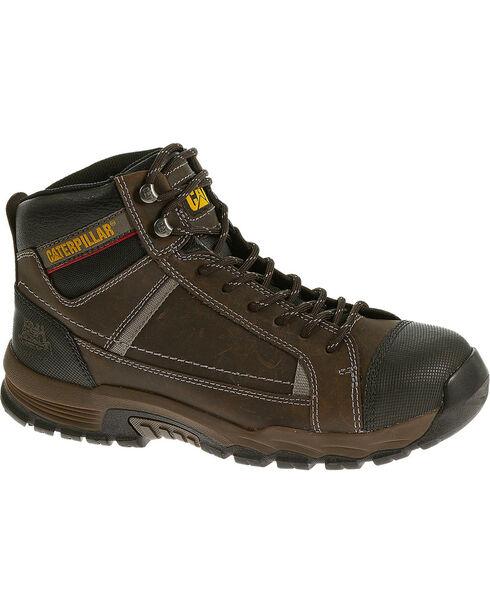 Caterpillar Men's Black Regulator Work Boots, Brown, hi-res