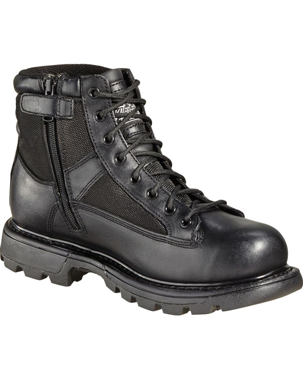 """Thorogood Men's 6"""" GEN-flex2 Trooper Side Zip Work Boots, Black, hi-res"""