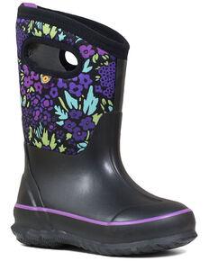 Bogs Girls' Big Garden Rubber Boots - Round Toe, Black, hi-res