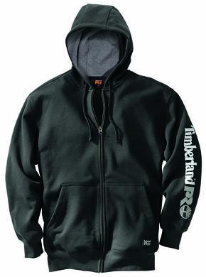 Timberland Pro Men's Hood Honcho Water-Repellent Full-Zip Hoodie, Black, hi-res