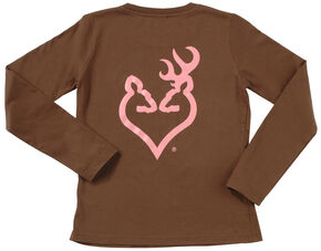 Browning Women's Brown Buckheart Long Sleeve T-Shirt  , Brown, hi-res