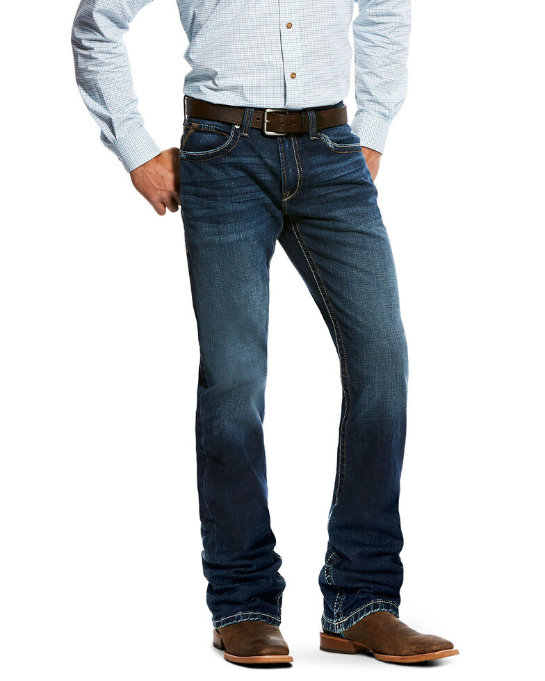 Ariat Men's M2 Mission Relaxed Bootcut Jeans , Indigo, hi-res