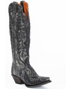 Dan Post Women's Hallie Western Boots - Snip Toe, Black, hi-res