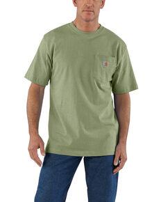 Carhartt Mens Green Workwear Pocket Short Sleeve Work T-Shirt - Tall  e3d072410