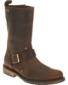 Harley Davidson Men's Brown Brendan Leather Boots - Round Toe , Brown, hi-res