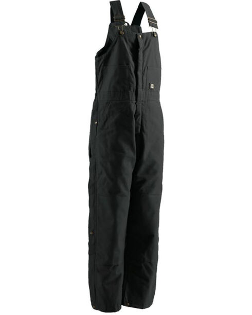 Berne Men's Black Deluxe Insulated Bib Overalls - Tall, Black, hi-res