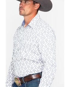 39e4e6f8bfd53 Rock   Roll Cowboy Mens Triangle Geo Print Long Sleeve Western Shirt