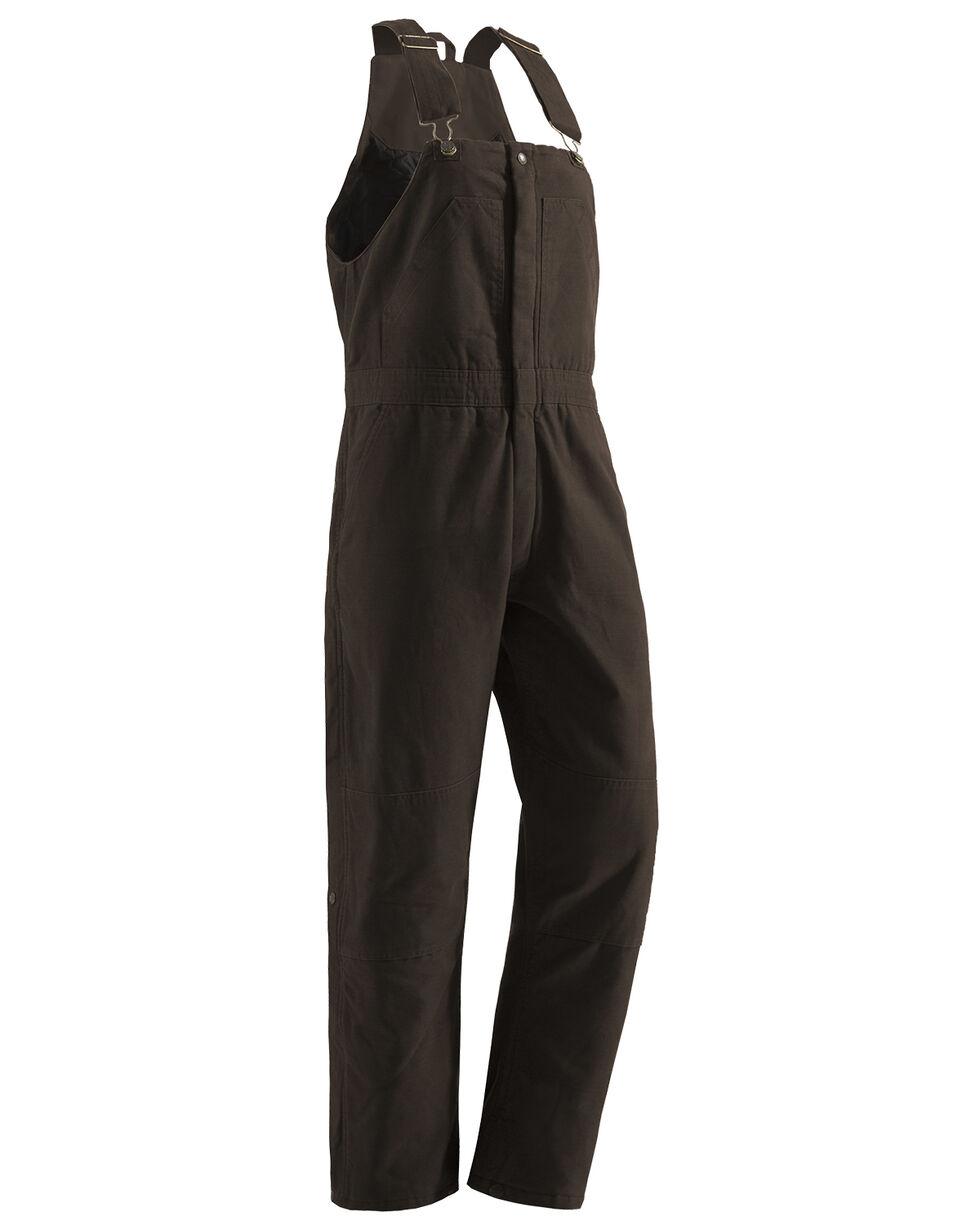 Berne Women's Washed Insulated Bib Overalls - Regular, Dark Brown, hi-res