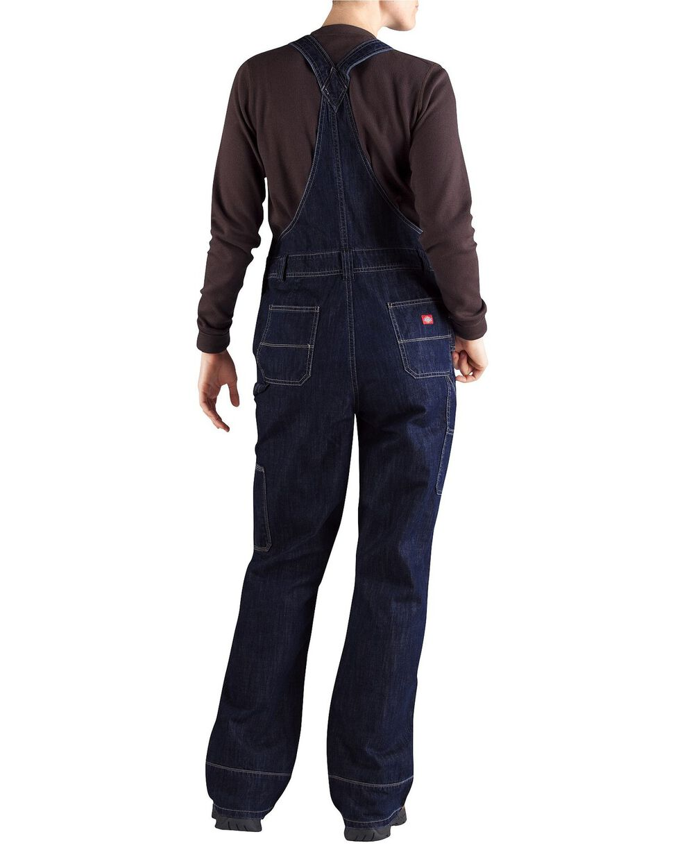 Dickies Women's Denim Bib Overalls - Big & Tall, Dark Stone, hi-res