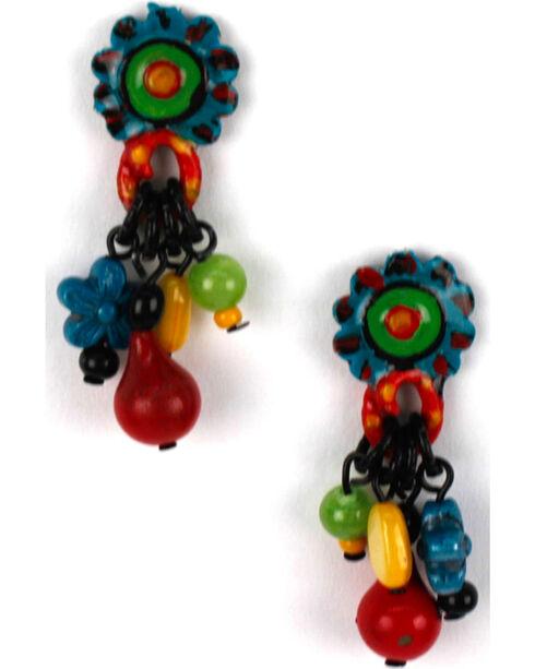 Treska Women's Cluster Drop Earrings, Blue, hi-res