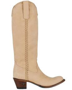 Lane Boots Women's Plain Jane Western Boots - Round Toe, Ivory, hi-res