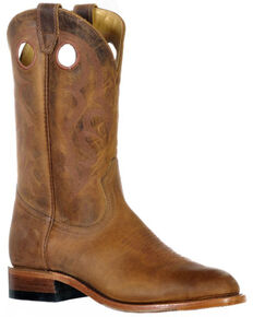 Boulet Men's Hill Billy Golden Western Boots - Round Toe, Brown, hi-res