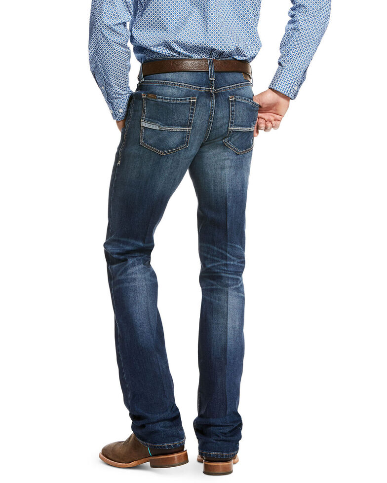Ariat Men's Ford Chandler Stretch Boot Cut Jeans, Blue, hi-res