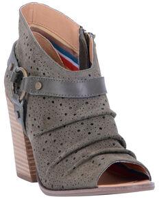 Dingo Women's Olive Spurs Fashion Booties - Peep Toe, Olive, hi-res