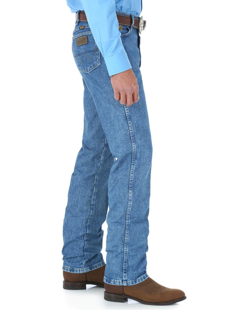 Wrangler Men's Blue George Strait Cowboy Cut Jeans - Straight Leg , Medium Blue, hi-res