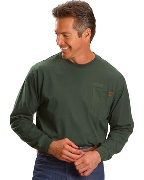 Wrangler Riggs Workwear Pocket Tee - Big, Tall, Big/Tall, Forest Green, hi-res