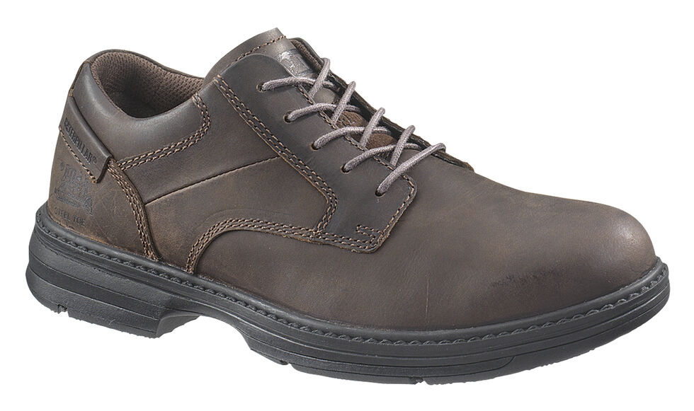 Caterpillar Men's Oversee Work Shoes - Steel Toe, Dark Brown, hi-res