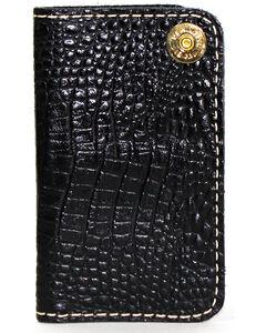 SouthLife Supply Men's Jackson Black Croc Embossed Multi Pocket Wallet, Black, hi-res