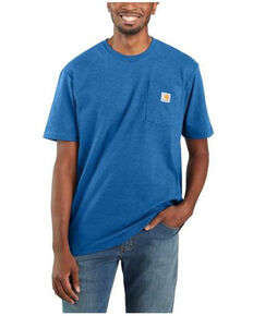 Carhartt Men's Medium Blue Loose Fit Pocket Short Sleeve Work T-Shirt , Medium Blue, hi-res