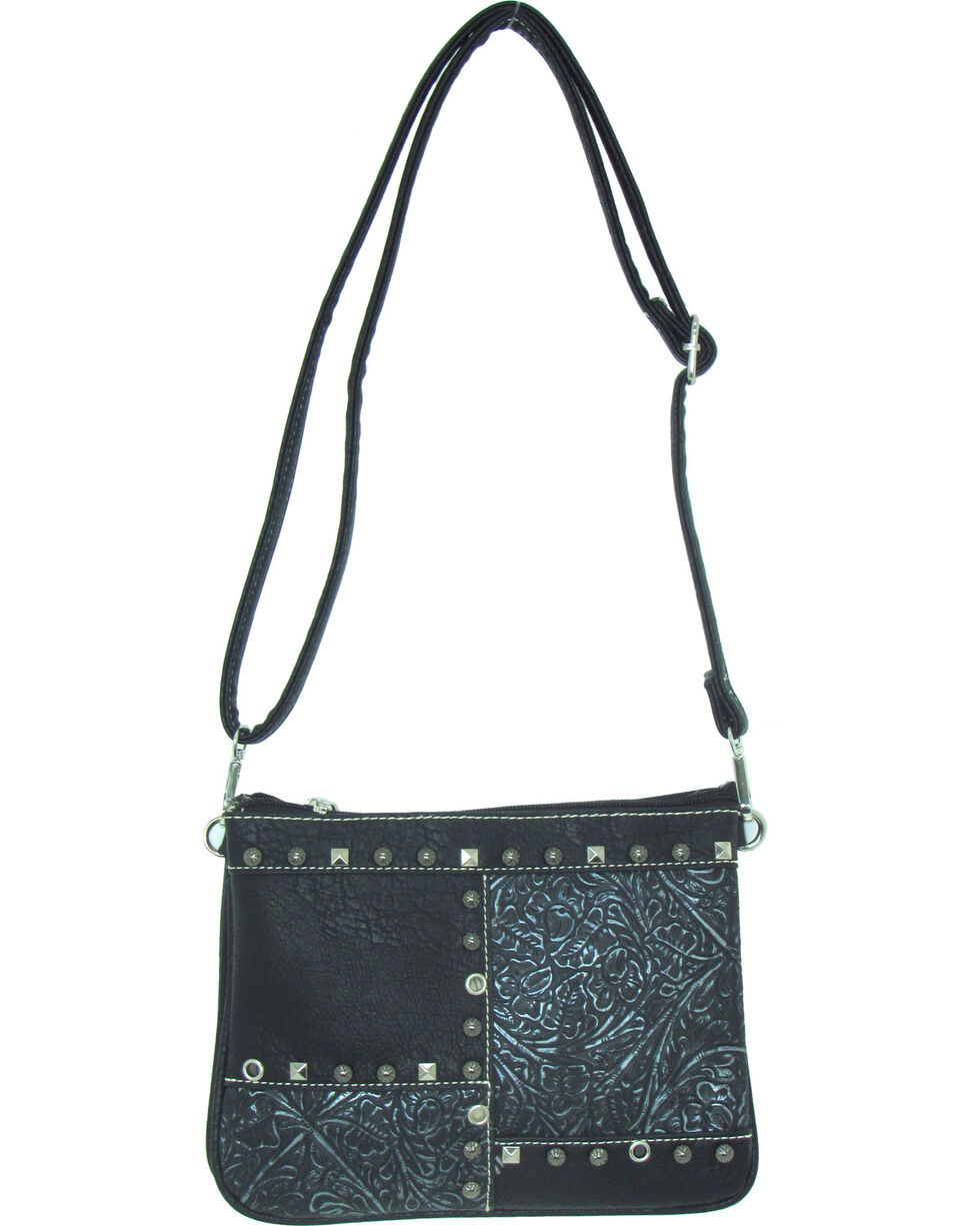 Savana Women's Fuax Leather Patchwork Crossbody Bag , , hi-res
