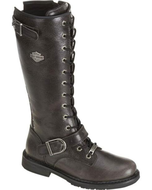 "Harley-Davidson Women's Jill 13"" Lace-Up Motorcycle Boots, Black, hi-res"