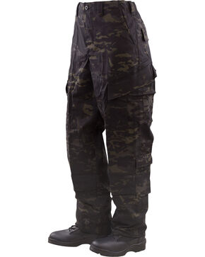Tru-Spec Tactical Response Camo Uniform Pants, Black, hi-res