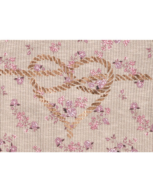 Shyanne Girls' Rope Heart Long Sleeve Shirt    , Ivory, hi-res