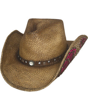 Bullhide Western Inspiration Straw Cowboy Hat, Natural, hi-res