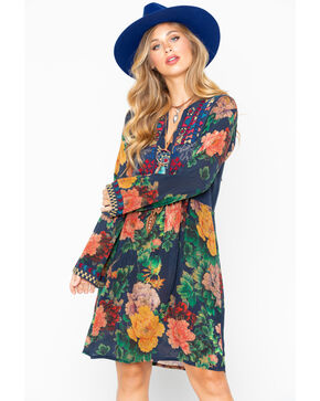 Johnny Was Women's Geo Tunic Bayani Embroidered Dress, Multi, hi-res