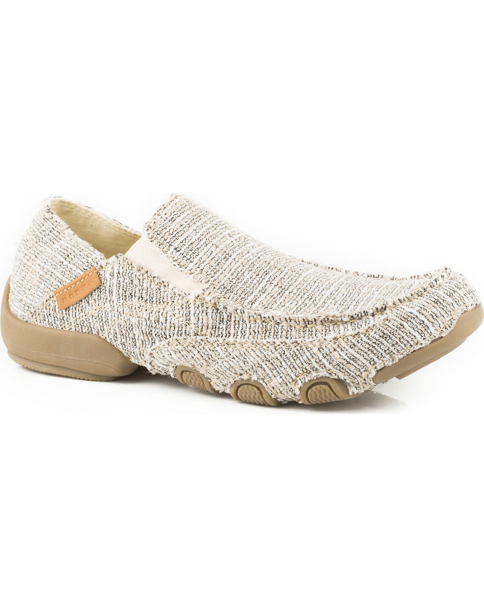Roper Men's Tan Roper Dougie Casual Driving Moc Shoes , Tan, hi-res