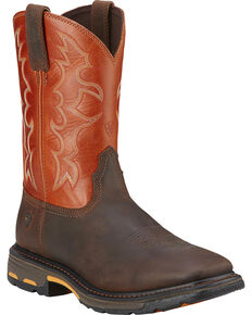 Ariat Men's Workhog Western Work Boots - Steel Toe, Earth, hi-res