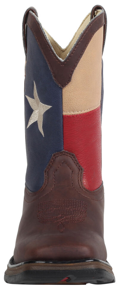 Durango Youth Boys' Texas Flag Western Boots - Square Toe, Brown, hi-res