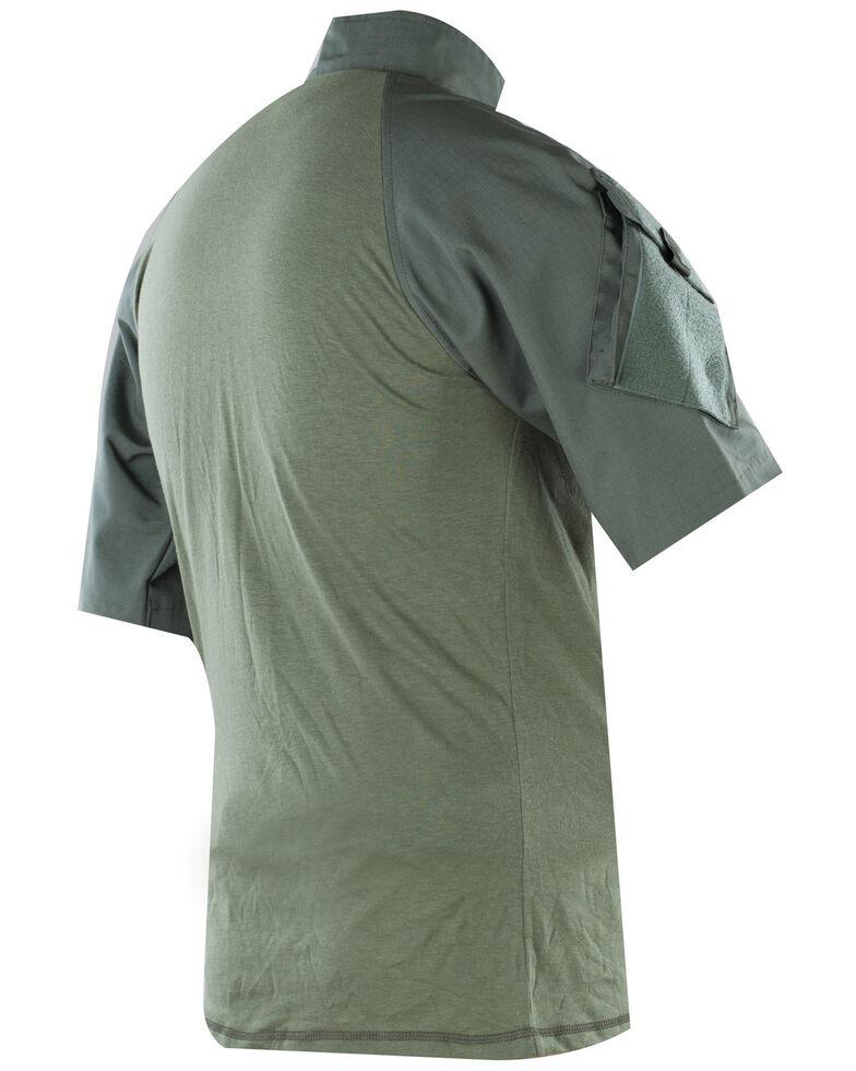 Tru-Spec Men's Olive 1/4 Zip Short Sleeve Combat Short Sleeve Work Shirt, Olive, hi-res