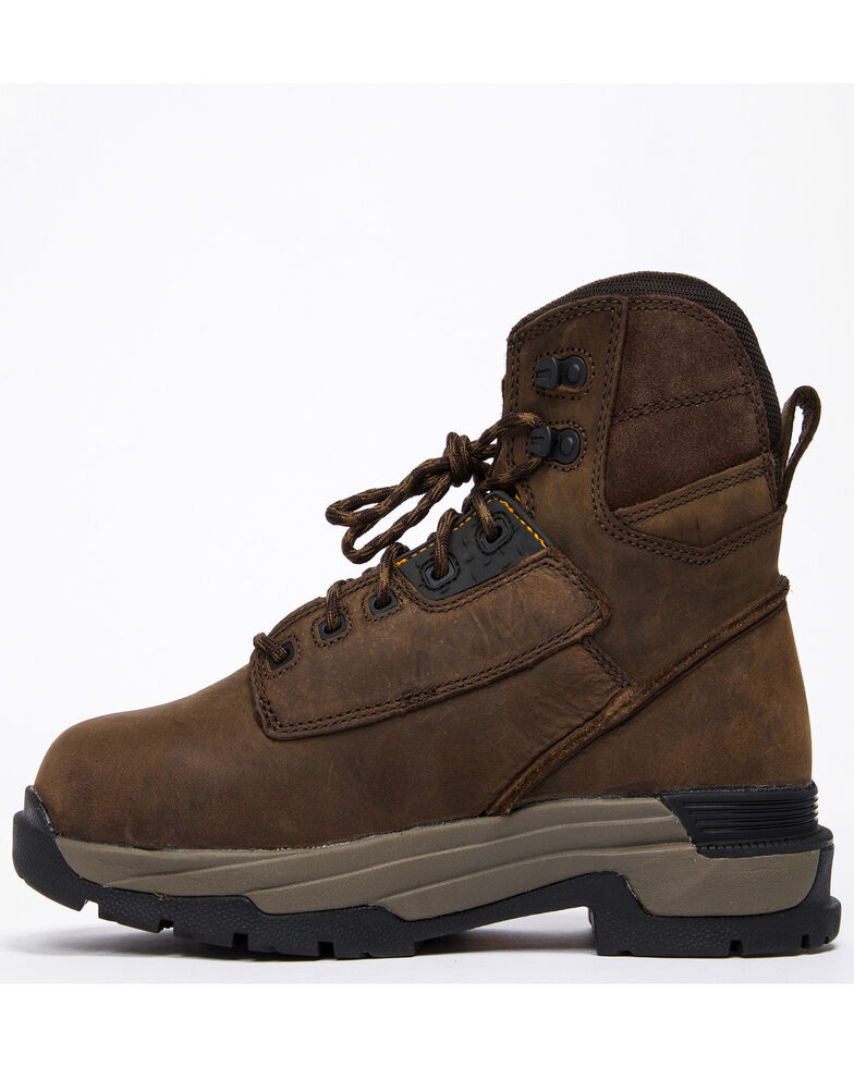 """Ariat Mastergrip 6"""" H2O Work Boots - Soft Toe, Brown, hi-res"""