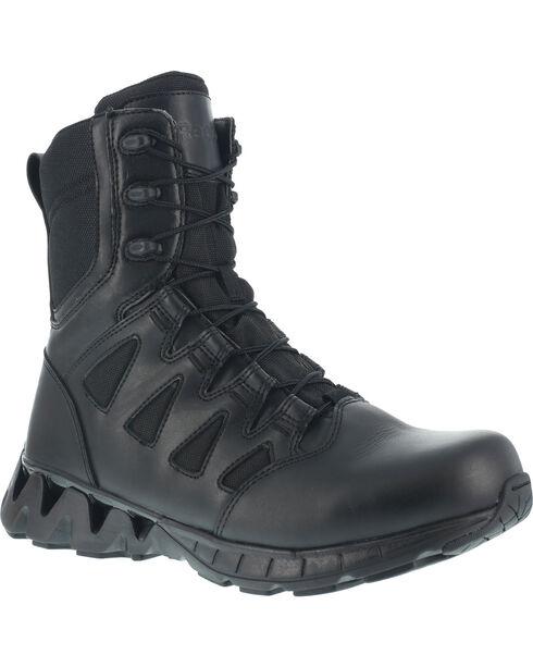 """Reebok Men's 8"""" Zigkick Tactical Boots - Soft Toe , Black, hi-res"""