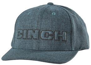 Cinch Men's Flex Fit Raised Logo Ball Cap, Blue, hi-res