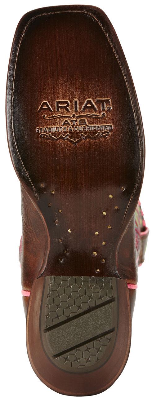 Ariat Women's Dark Brown Derby Boots - Square Toe, Dark Brown, hi-res
