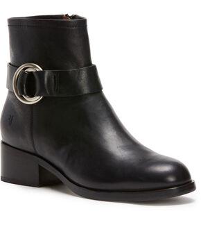 Frye Women's Black Kristen Harness Booties - Round Toe , Black, hi-res