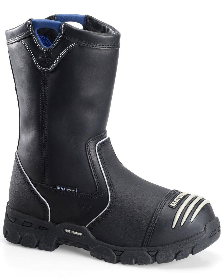 Matterhorn Men's Waterproof Met Guard Wellington Work Boots - Composite Toe, Black, hi-res