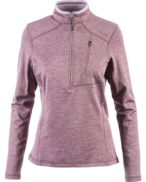 5.11 Women's Glacier Half-Zip Pullover , Grape, hi-res