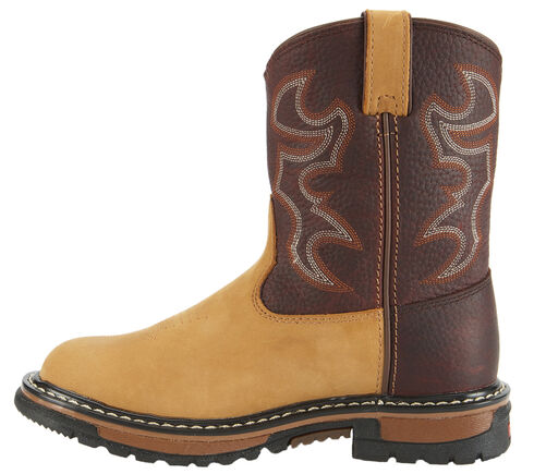 Rocky Youth Boys' Branson Roper Western Boots - Round Toe, Brown, hi-res