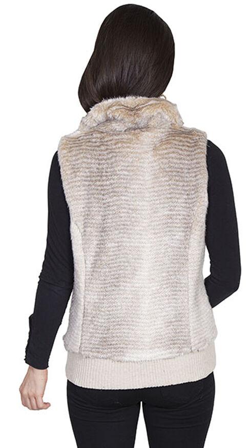 Scully Women's Sand Faux Fur Zip Vest, Sand, hi-res