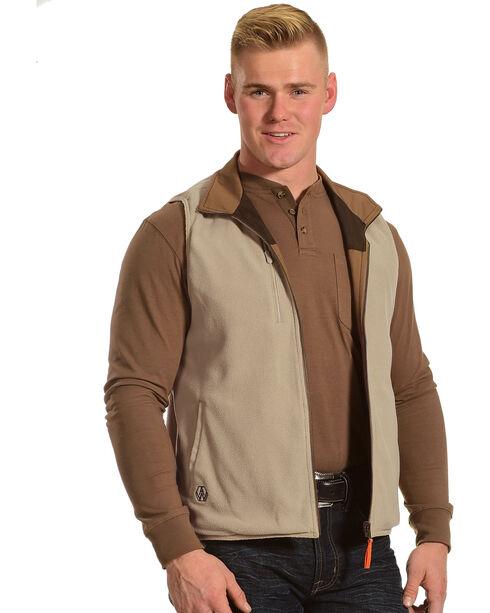 American Worker Men's Brown Reversible Major Canvas Vest, Brown, hi-res