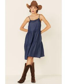 Wishlist Women's Denim Tiered Sundress, Blue, hi-res