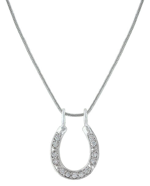 Montana Silversmiths Shining Bright Horseshoe Necklace, Silver, hi-res