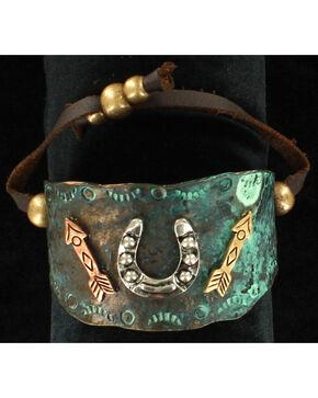 Blazin Roxx Horseshoe and Arrows Bracelet, Turquoise, hi-res