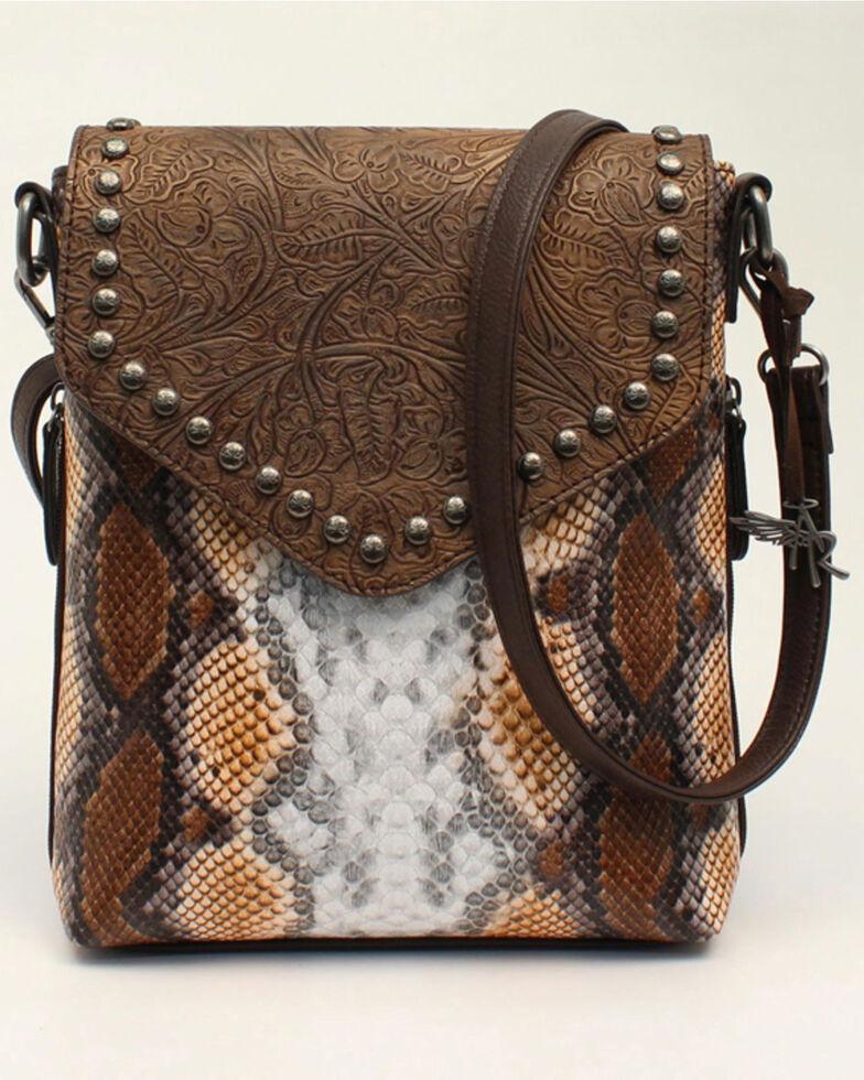 Angel Ranch Women's Python Print Crossbody Bag, No Color, hi-res
