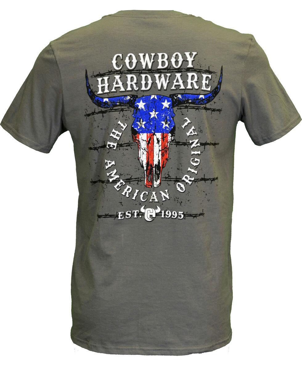 Cowboy Hardware Men's American Original Short Sleeve Tee, Charcoal, hi-res